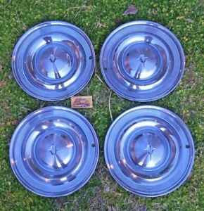 1957 Oldsmobile 88 98 Super 14 Hubcaps Set X4 Vintage Hot Rat Rod Olds Holiday