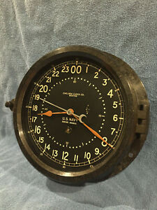 Fully Restored Wwii Us Navy 8 5 Dial Chelsea Ship Clock Serial No 393939