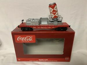 ✅K-LINE BY LIONEL OPERATING COCA COLA CAN FLAT CAR! COKE SODA POP TRAIN SET