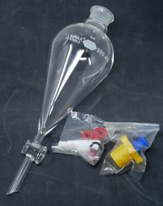 Kimax 500ml Lubri flow Separatory Funnel And Stopcock 29049f 500