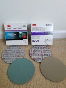 3m Trizact P6000 P8000 6 Hookit Foam Discs 1 Sheet Of Each 2 Discs Total