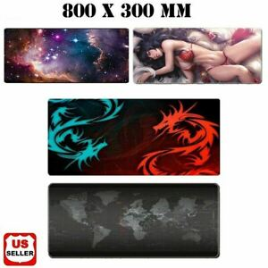 New Extended Gaming Mouse Pad Large Size Desk Keyboard Mat Soft Thick 31x 11 5
