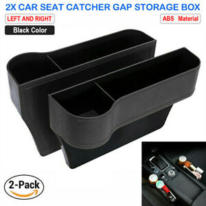 2x Car Seat Gap Catcher Filler Storage Box Pocket Organizer Holder Abs Suv