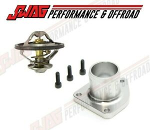 Billet Thermostat Housing With Oem Thermostat For 99 5 03 Powerstroke 7 3 Silver