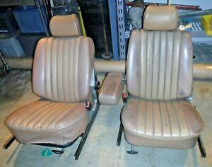 81 Mercedes Benz R107 380sl 450sl Seats Tracks Runners Armrest Chrome Slides T2