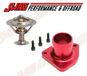 Billet Thermostat Housing Gates Thermostat For 99 5 03 7 3l Ford Red