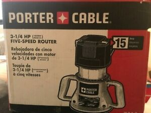 Porter-Cable Model 7518 Variable Speed 3 14 HP Router Open Box New