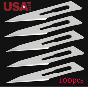 100pcs Scalpel Blades 11 Sterilized Stainless Steel Blades Surgical Knife Tools