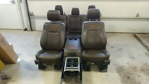 1999 2016 Ford F250 F350 F450 Super Duty Front Rear King Ranch Leather Seats