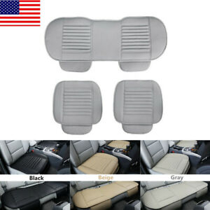 Universal Car Pu Leather Front Rear Back Seat Cover Protector Cushion Pad Mat Us