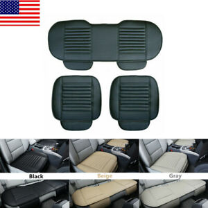 Auto Car Pu Leather Front Rear Back Seat Cover Protector Chair Cushion Pad Mats