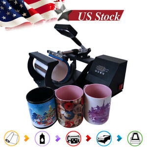 Mug Heat Press Machine Digital Control Sublimation Transfer For 11oz Mugs Cup Us