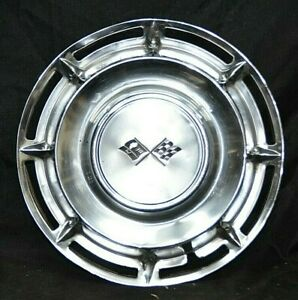 1960 60 Chevrolet Chevy Impala Biscayne Bel Air 14 Inch Hubcap Wheel Cover Oem