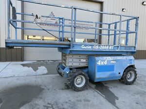 1999 Genie Gs 2668 Rough Terrain 4x4 Scissor Lift Up 26ft Gas Jlg Iowa