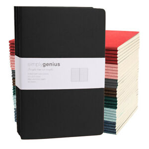 6pk Simply Genius A5 Soft Cover Writing Journal Travel Notebook Lined 5 5 X 8 3