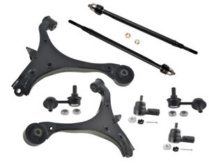 Front Suspension Kit Wishbone Arms Inner Outer Rack Ends Acura Rsx 2 0l Sway Bar