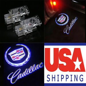 2x Ghost Led Door Step Courtesy Shadow Laser Light For Cadillac Ats Xts Cts Srx