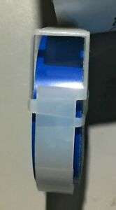 Vintage Dymo Labeling Tape Cartridge 1 2 X 12 New Old Stock Glossy Blue