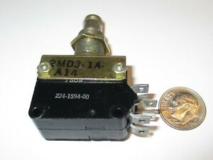 Push Button Switch Robertshaw Dpdt On on Tactile 10 Amps Nos