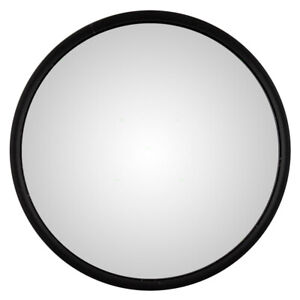 New Universal Convex Side Mirror Stainless Steel 8 5 Round With L Bracket