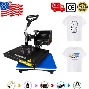 12 x9 Swing Away Digital Heat Press Machine T shirts Sublimation Diy Transfer