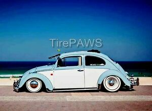 Portawalls White Wall R15 Car Tire Insert Trim Set Vw Bug Kafer Super Beetle