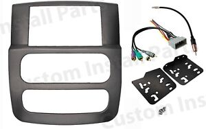 Double Din Radio Dash Kit Install W infinity System Fits 02 05 Dodge Ram Trucks