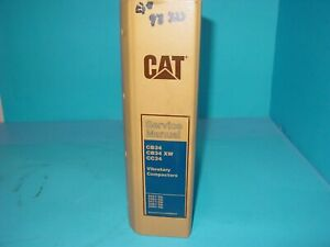 Caterpillar Cat Service Manual Vibratory Compactors Cb34 Cb34 xw Cc34