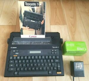 Canon Typestar 5 S 50 Electronic Typewriter Manual Ac Charger Ribbon Tested