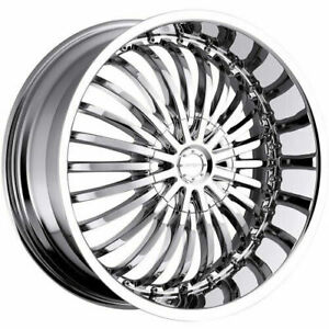 20x8 Strada S16 Spina 5x108 5x114 3 40 Chrome Wheels Rims Set 4