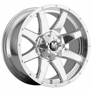 20x9 Off road Monster M08 6x135 6x5 5 0 Chrome Wheels New Set 4
