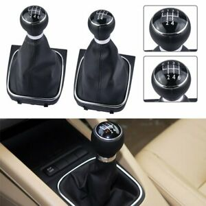 5 6 Speed Gear Shift Knob Gaiter Boot With Dust Cover For Vw Golf Jetta Mk5 Mk6