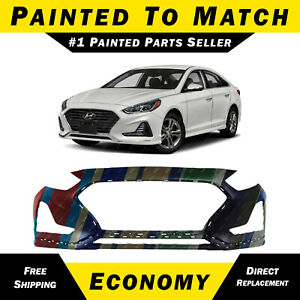 New Painted To Match Front Bumper Cover For 2018 2019 Hyundai Sonata Non Turbo