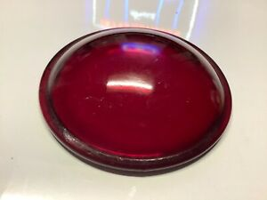 Vintage Red Nos Glass Lens Truck Tail Light Early Auto Stop Lamp 2 15 16