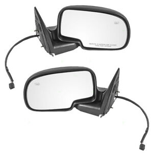 Pair Set Power Side View Mirrors Heated For Chevy Gmc Cadillac Pickup Truck Suv