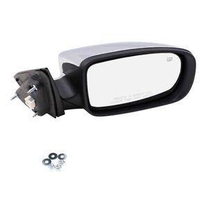Side View Power Mirror For 11 14 Chrysler 200 Sedan Passengers Heated Chrome Cap