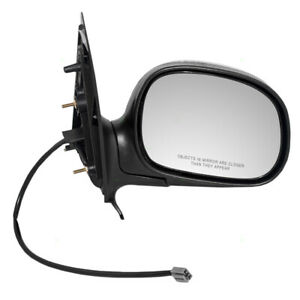 Power Door Mirror W Chrome Cover Fits 1997 Ford Expedition Passenger Side Right