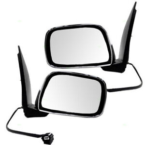 New Pair Set Power Side View Mirror Chrome For 09 13 Suzuki Equator Pickup Truck