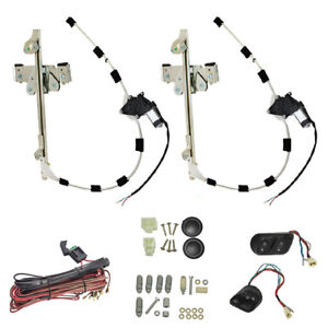 Universal Electric Power Window Regulator Conversion Upgrade Kit Street Hot Rod