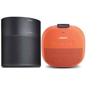 Bose Home Speaker 300 Black With Bose SoundLink Micro Bluetooth Speaker Orange