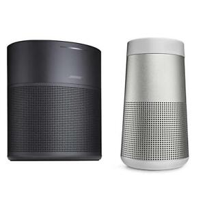 Bose Home Speaker 300Black WBose SoundLink Revolve Bluetooth Speaker Lux Gray