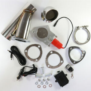 3 76mm Electric Exhaust Muffler E Cut Out Valve System Dump Wireless W Remote