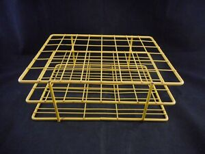Bel art Poxygrid Wire Rack Tubes Vials 25 30mm 48 places 11 X 8 25 X 4 Yellow