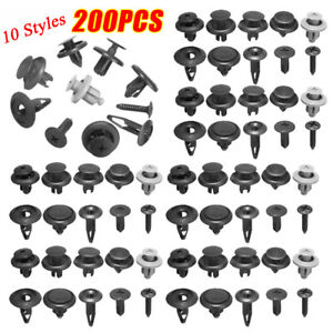 200pcs Trunk Screw Rivets Set Car Bumper Fender For Auto Plastic Fastener Clips