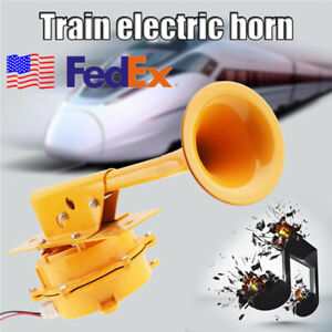 12v Super Loud All Metal Train Horn No Need Compressor For Truck Boat Lorry