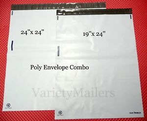 6 Extra Large Poly Bag Envelope 2 Size Combo Premium 3 2 Mil Quality Mailers