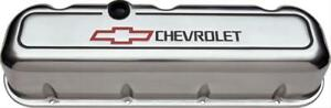 Proform Gm Licensed Aluminum Valve Covers 141 142 Chevy Bbc 396 427 454 Polished