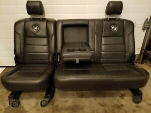 Ford Harley Davidson F250 F350 F450 Rear 40 60 Bench Seat 2008 2009 2010 Leather