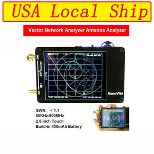 50k 900mhz Nanovna Vector Network Analyzer Hf Vhf Uhf Antenna Analyzer 2 8 Tft