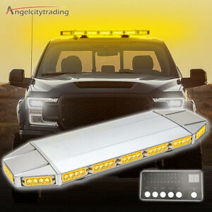 27 64 Led Roof Light Bar Tow Truck Emergency Beacon Warning Plow Strobe Amber